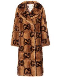 Gucci Mink Fur Coat - Brown