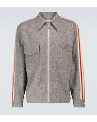 Wales Bonner Charlie Zipped Blouson Jacket - Grey