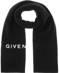 Givenchy Schal aus Baumwolle und Kaschmir - Schwarz