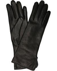 Loro Piana Max's Leather Gloves - Black