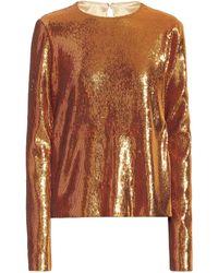 Galvan London Top Gilded Clara de lentejuelas - Metálico
