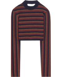 Victoria Beckham - Cropped-Pullover aus einem Wollgemisch - Lyst