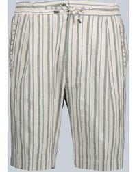 Lardini - Striped Cotton-blend Shorts - Lyst