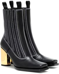 Proenza Schouler Leather Ankle Boots - Black