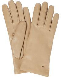 Max Mara Handschuhe aus Leder - Natur