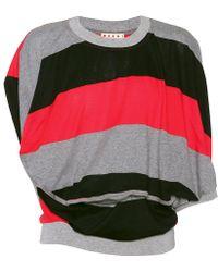 Marni Top a righe in maglia - Rosso