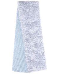 Miu Miu Mohair, Cotton And Virgin Wool Scarf - Blue