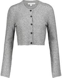 Brock Collection Cropped-Cardigan aus einem Wollgemisch - Grau