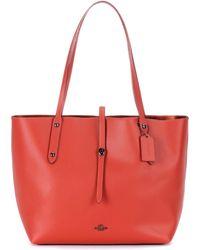 COACH - Market Leather Shopper - Lyst