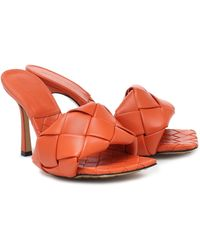 Bottega Veneta 'BV Lido Intrecciato' Sandalen, 95mm - Orange