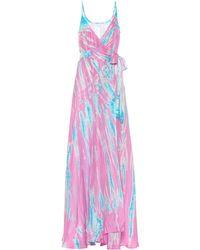 Anna Kosturova Exclusive To Mytheresa – Tie-dye Silk Maxi Dress - Purple
