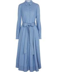 Gabriela Hearst Abito chemisier Sola in cotone e seta - Blu