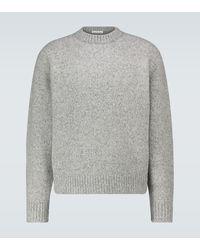 Acne Studios Kael Wool-blend Crewneck Sweater - Gray