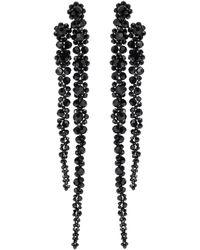 Simone Rocha Crystal-embellished Drop Earrings - Black