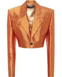 Y. Project Silk-shantung Miniskirt - Orange