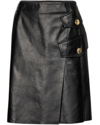 Proenza Schouler Leather Midi Skirt - Black