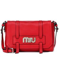 Miu Miu - Leather Shoulder Bag - Lyst