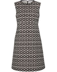 Max Mara Aosta Printed Cotton-blend Minidress - Black