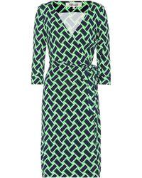 Diane von Furstenberg - New Julian Printed Silk Wrap Dress - Lyst
