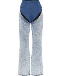 Y. Project Mid-Rise Jeans - Blau