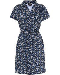 A.P.C. Floral Cotton Minidress - Blue