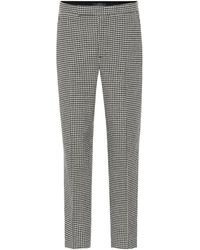 Polo Ralph Lauren Checked Wool-blend Trousers - Black