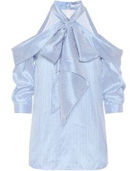 Erdem - Striped Silk Top - Lyst