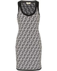 Fendi X Joshua Vides Ff Knit Minidress - Black