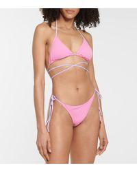 Reina Olga Exklusiv bei Mytheresa – Bikini-Höschen Miami - Pink