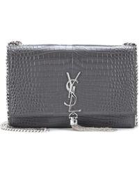 Saint Laurent - Classic Monogram Leather Shoulder Bag - Lyst