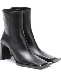 Balenciaga Ankle Boots Moon aus Leder - Schwarz