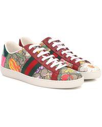 Gucci Zapatillas Ace GG Supreme Flora - Multicolor