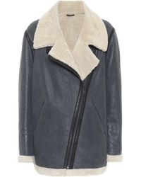 Étoile Isabel Marant Azare Shearling And Leather Jacket - Black