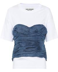 Junya Watanabe Top en jean et coton - Bleu