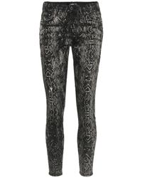 Amiri Jeans skinny con stampa serpente - Nero