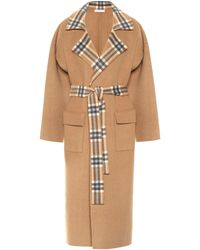 Rejina Pyo Meryl Convertible Panelled Checked Wool-blend Coat - Brown