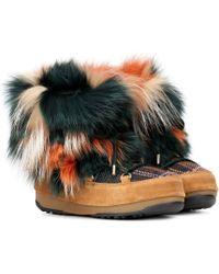 Yves Salomon - X Moon Boot® Ankle Boots mit Pelz - Lyst