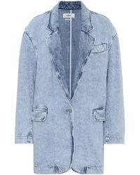 Étoile Isabel Marant Blazer Holly en jean - Bleu