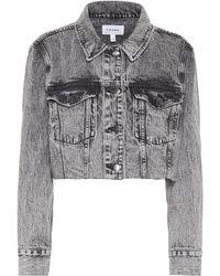 FRAME Chaqueta de jeans cropped - Gris