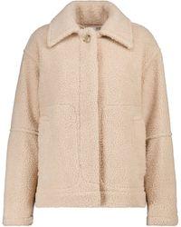 Vince Sherpa Faux Shearling Jacket - Natural