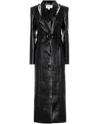 Materiel Tbilisi Manteau en cuir synthétique - Noir
