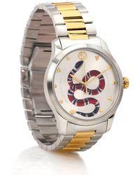 Gucci Reloj de acero inoxidable G-Timeless 38 mm - Metálico
