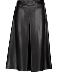 Maison Margiela Faux Leather Culottes - Black
