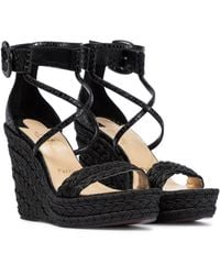 Christian Louboutin Bodrum 110 Wedge Sandals - Black