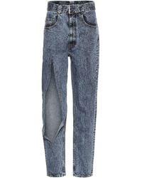 Maison Margiela Ripped High-rise Jeans - Blue