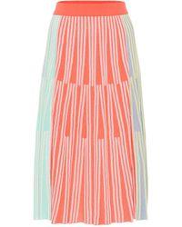 KENZO Colorblock Ribbed Knit Midi Skirt - Multicolour