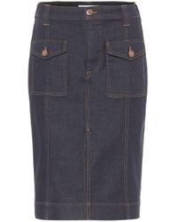 See By Chloé High-rise Denim Pencil Skirt - Blue