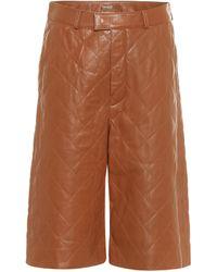 Dodo Bar Or Shorts aus Leder - Braun