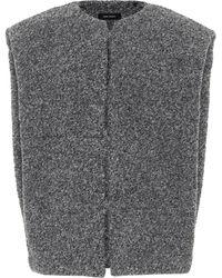Isabel Marant Gwendia Alpaca-blend Jacket - Gray