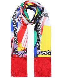 Versace - Exclusivité Mytheresa - Foulard en soie imprimée à franges - Lyst da221a13800